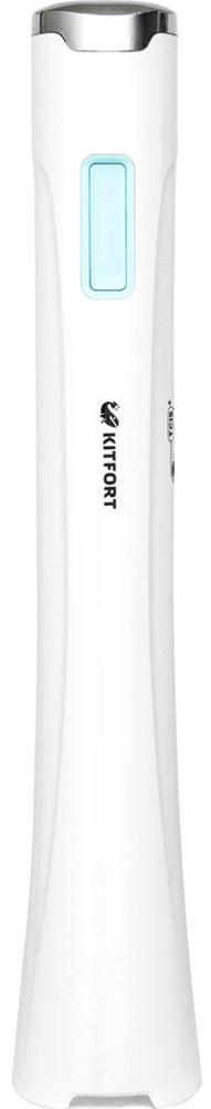 Kitfort КТ-1316-1 блендерКТ-1316-1Погружной блендер Kitfort КТ-1316 предназначен для измельчения, смешивания, взбивания, гомогенизации, приготовления крем-супов, пюре, майонеза, соусов, фруктовых напитков, коктейлей, смузи, протеиновых смесей и детского питания, а также для замеса жидкого теста. В дополнение к стандартной защите двигателя от перегрева, в данной модели используется инновационная система TCIS+ — Temperature Condition Identification System (система индикации перегрева). При нагреве двигателя до опасной температуры, индикатор на корпусе меняет цвет. Блендер Kitfort КТ-1316 оснащен двумя скоростями вращения, неразборным корпусом, который удобно держать в руке, и мощным двигателем на 300 Вт. Скорость 1: 7500 об/мин Скорость 2: 15000 об/мин