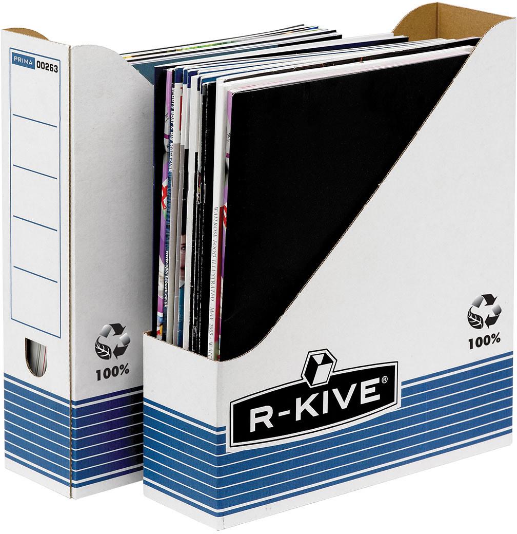 Fellowes R-Kive Prima вертикальный накопительFS-00263Накопитель вертикальный R-Kive Prima FS-0026301 предназначен для хранения документов повседневного использования. Открытая сторона для удобного изъятия документов. Поля для надписей на торцевой части более удобного использования и индексации. Легкосборная конструкция из картона. Идеально подойдет для любого офисного интерьера и поможет правильно организовать рабочее пространство.