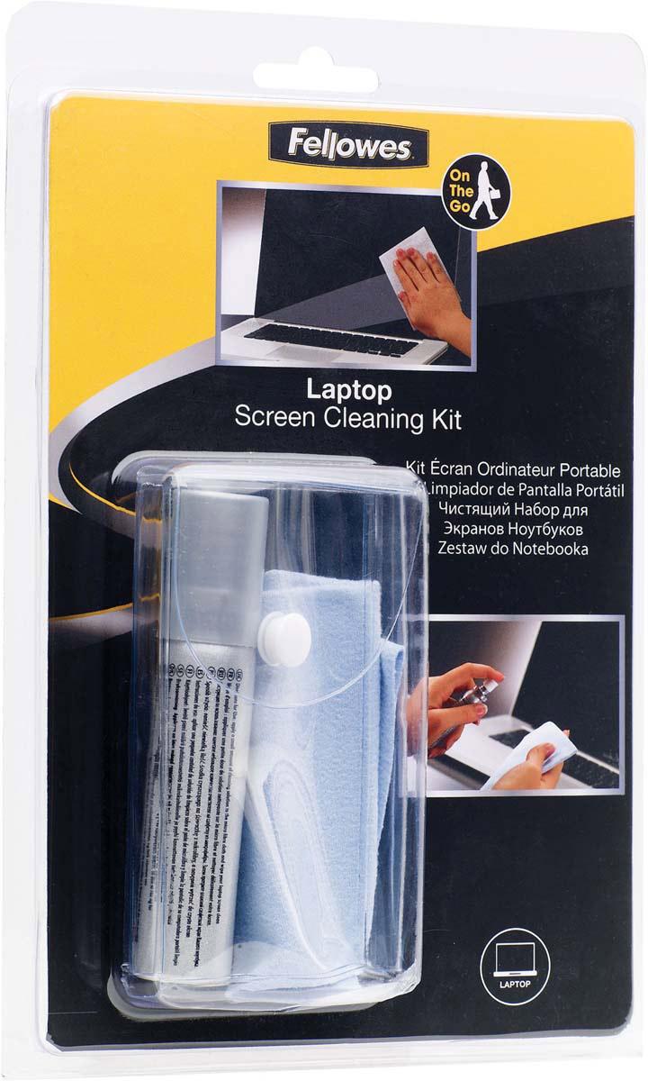 Fellowes FS-22019 комплект для ухода за ноутбуком, с салфеткой из микроволокнаFS-22019Комплект предназначен для чистки экранов ноутбуков. Регулярное использование чистящего спрея позволяет сохранять поверхность экрана в чистоте длительное время. Основные свойства: Удобная компактная упаковка. Не содержит спирта Дерматологически безопасен. Не оставляет разводов. Содержание спирта менее 1%, Обладает антистатическими свойствами. Состав комплекта: 25 мл чистящего раствора. Салфетка из микрофибры. Удобный чехол для транспортировки.