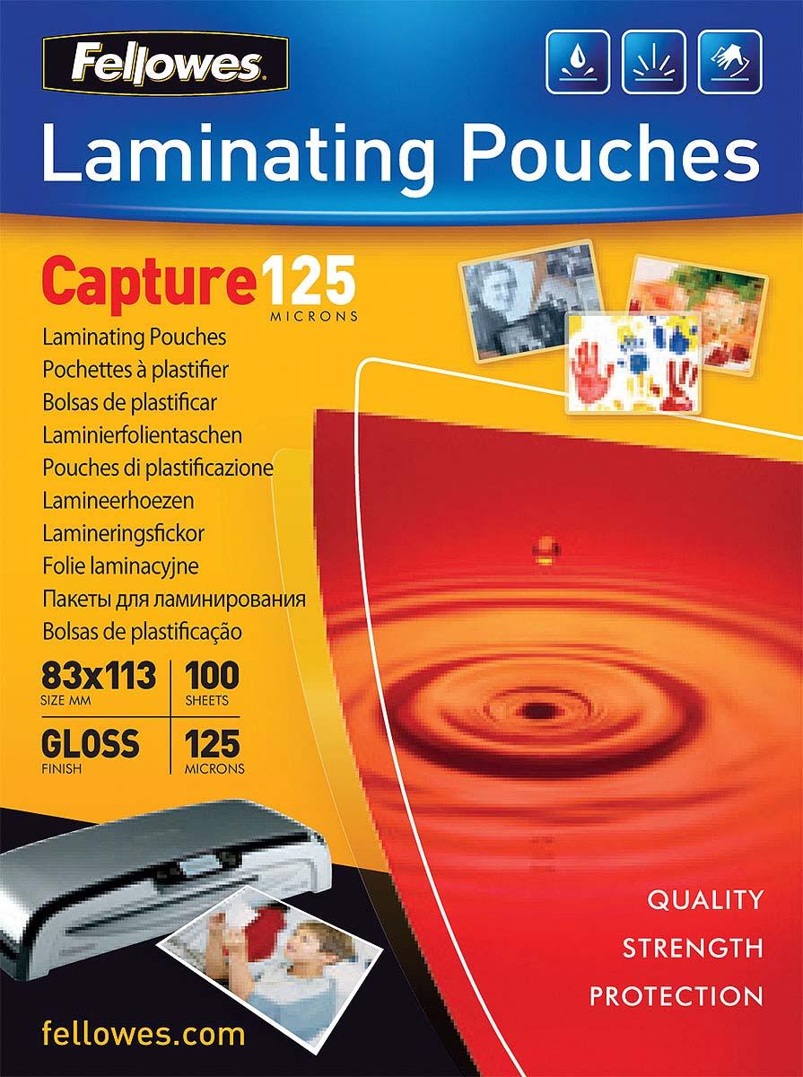 Fellowes FS-53071 83 x 113 мм пленка для ламинирования, 125 мкм (100 шт)FS-53071Пленка для горячего ламинирования глянцевая, с высоким содержанием полиэстера (50%). Используется для защиты документов от влаги, загрязнения, механических повреждений, придания жесткости и яркости. Обладает высокой прозрачностью.