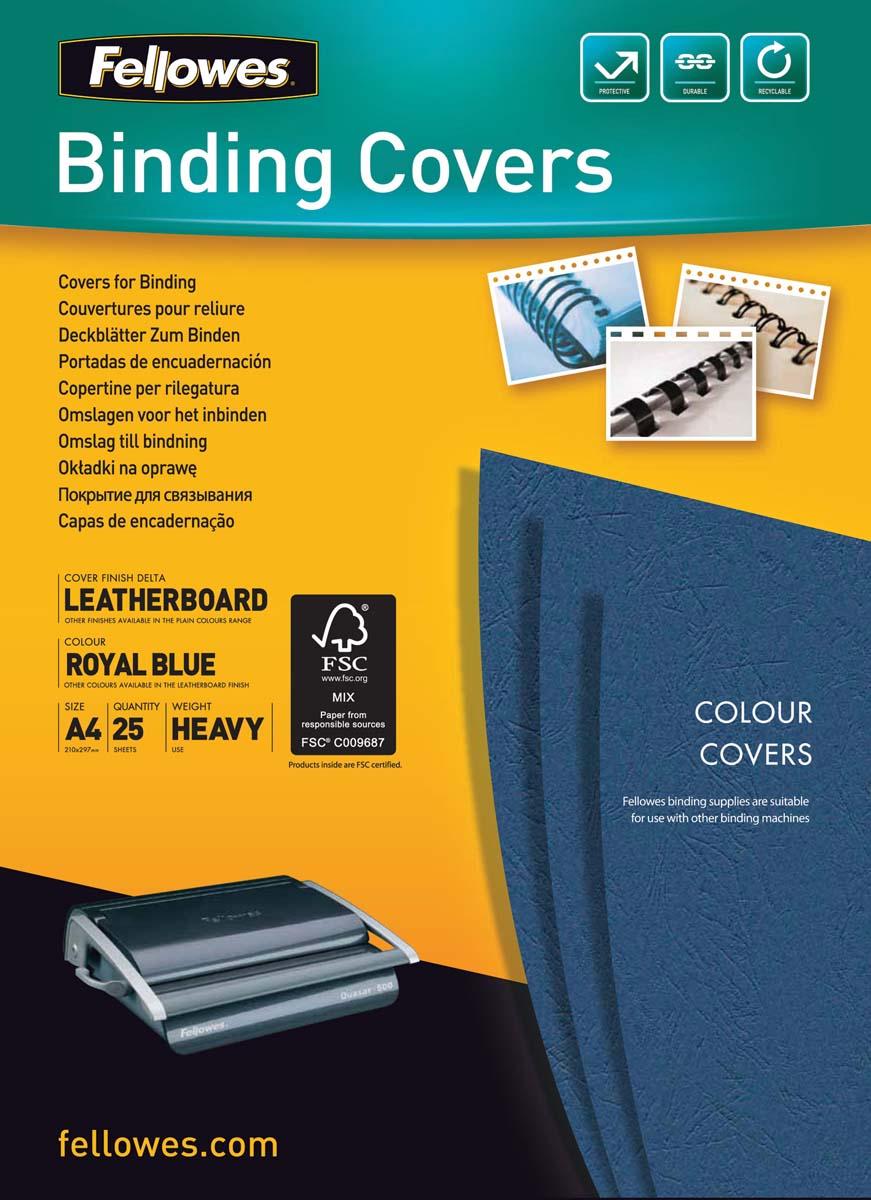 Fellowes FS-53739 Delta A4, Blue обложка для переплета (100 шт)FS-53739Обложка Delta предназначена для оформления документов. Обложка выполнена из картона 250гр/м., тиснением под кожу, 25шт. в розничной упаковке. Идеально подходит как для переплета на пластиковую, так и на металлическую пружины.