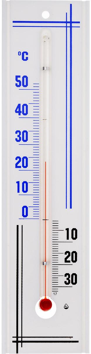Термометр комнатный Стеклоприбор, цвет: белый, синий, черный. П-3300187_синийТермометр комнатный Стеклоприбор применяется для измерения температуры воздуха в помещении. Термометр выполнен из пластика, а колба изготовлена из ударопрочного стекла. Термометр оснащен широкой, подробной и наглядной шкалой. Изделие имеет широкий рабочий диапазон - от -30 и до +50°С со шкалой деления в 10°С. Цена деления составляет 1°С. Изделие имеет специальное отверстие для крепления. Не содержит ртути. Для хорошего самочувствия и здоровья идеальный микроклимат в доме создаст температура +18…+24°С.
