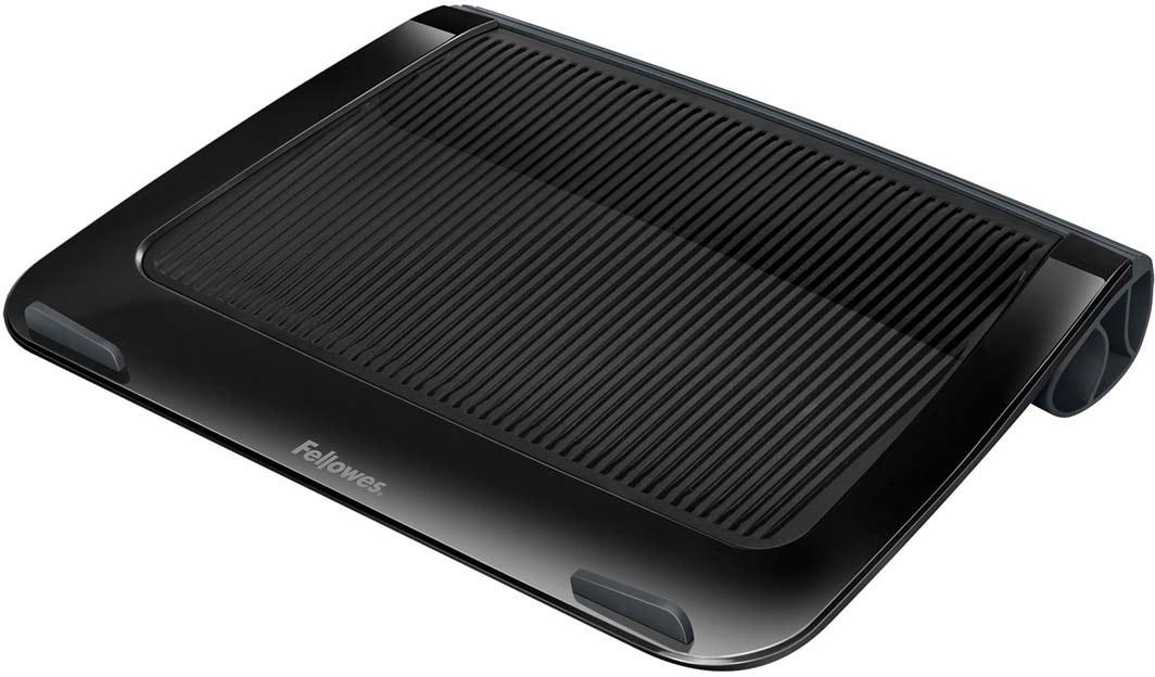 """Fellowes I-Spire Series, Black подставка для ноутбука до 17, до 6 кгFS-94731Приподнимает экран ноутбука до удобного угла обзора, тем самым снимая напряжение в области шеи и плеч, делая работу за ноутбуком комфортной. Рифленая поверхность способствует охлаждению ноутбука. Ограничители на передней панели обеспечивают устойчивое положение ноутбука на подставке. Подходит для ноутбуков до 17"""". Мягкая силиконовая подкладка обеспечивает удобство при работе с ноутбуком вне рабочей поверхности, держа ноутбук на коленях. Размер подставки: В42 х Ш285 х Г380 мм. Поставляется в сборе. Гарантия 1 год"""
