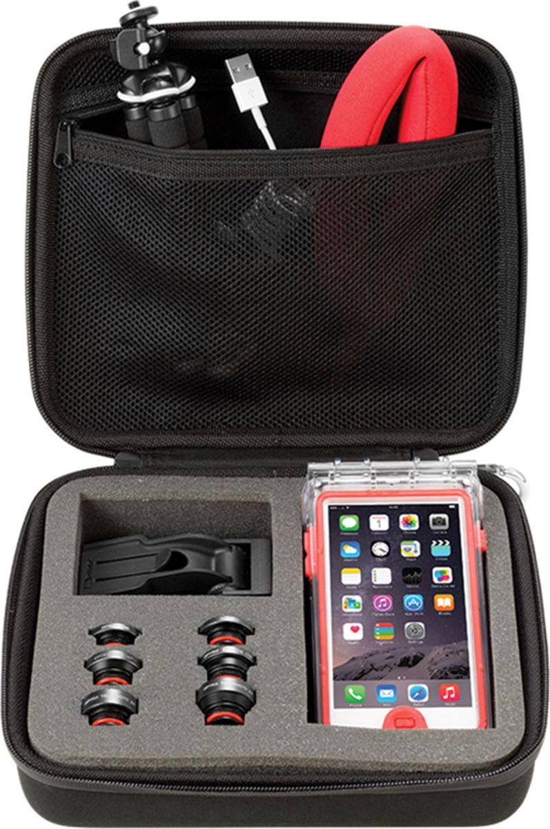 Optrix BG, Black Red защитная сумка для смартфонаFS-94782В данной защитной сумке Optrix вы удобно уместите ваш смартфон, чехол Optrix by Body Glove, мелкие аксессуары и фото принадлежности. Легкая в использовании сумка подходит для хранения и защиты любого чехла Optrix. Подходит для хранения кабелей питания, сменных объективов, прочих мелких аксессуаров. Включает карабин для крепления к рюкзаку, внутренний карман для мелочей, ручку для переноски. Жесткий корпус надежно защитит содержимое сумки. • Внутреннее отделение из поролона обеспечит безопасное храние чехлов всех размеров и объективов • Закрывается на молнию • Подходит ко всем чехлам Optrix by Body Glove