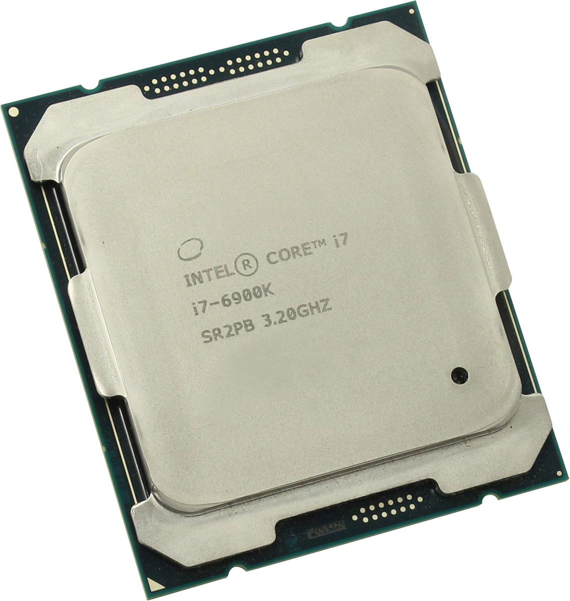 Intel Core i7-6900K процессор373951Процессор Intel Core i7-6900K обеспечит высокую производительность системы, когда это необходимо, благодаря автоматической подстройке частоты. Данная модель построена на архитектуре Broadwell и оснащена сокетом LGA 2011. Базовая частота этого 8-ядерного процессора составляет 3200 МГц, при серьезных нагрузках активируется турбо-режим и частота повышается до 3700 МГц. Intel Core i7-6900K поддерживает оперативную память типа DDR4 объемом до 128 ГБ с пропускной способностью 76.8 Гбайт/с. Используется системная шина DMI 2.0 и встроенный контроллер PCI-E 3.0 с 40 линиями. Процессор поддерживает 64-битный набор команд EM64T. Используется энергосберегающая технология Enhanced SpeedStep. Показатель тепловыделения (TDP) составляет 140 Вт. Ядро: Broadwell-E