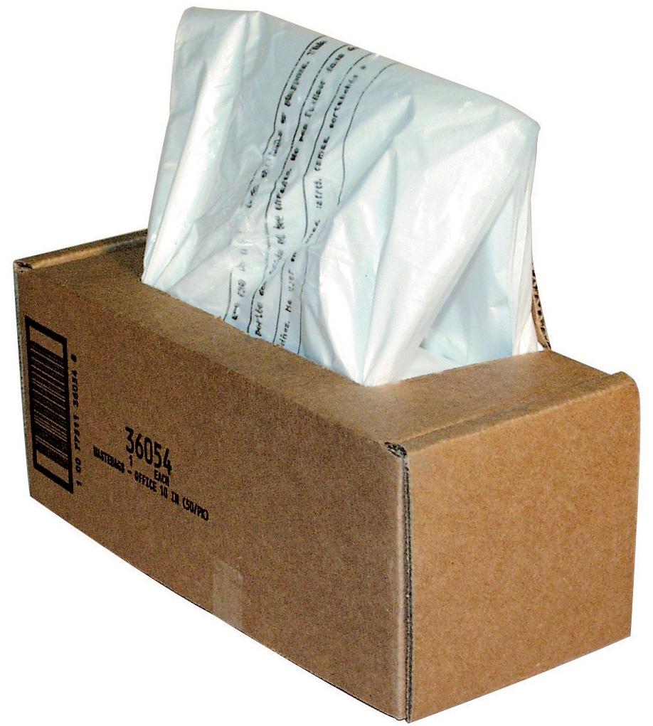 Fellowes мешки для уничтожителей, 53-75 литров (50 шт)FS-36054Мешки FS-36054 удобны для легкого извлечения мусора из корзины шредера. Объем 53-75 литров. 50 шт. в упаковке. Идеально подходят для уничтожителей серии 225/2250Мешки для шредера Fellowes, модели 485/3140, 165 лтр., 50