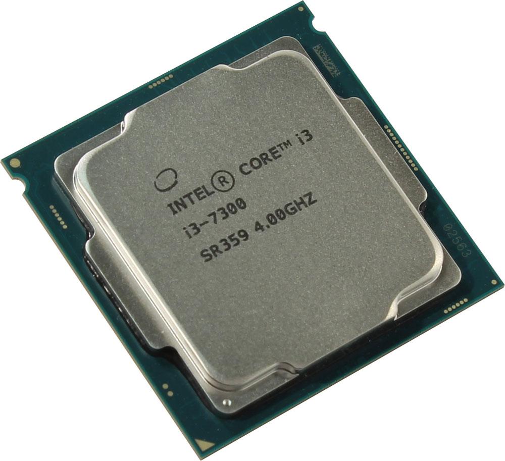 Intel Core i3-7300 процессор410651Core i3-7300 - процессор для настольных персональных компьютеров, основанных на платформе Intel. В основе лежит архитектура Kaby Lake, что позволяет оптимизировать работу двух ядер и четырех потоков, функционирующих на частоте 4 ГГц. Дополнительное быстродействие обеспечивается кэш-памятью третьего уровня объемом 4 МБ. Обработка изображения перед демонстрацией его на мониторе ПК осуществляется графическим процессором Intel HD Graphics 630. Для двусторонней передачи данных между Intel Core i3-7300 и оперативной памятью компьютера предусмотрен встроенный контроллер, поддерживающий модули размером до 64 ГБ. Также в данной модели установлены контроллер PCI-E 3.0 и системная шина DMI 3.0, которые используются для связи с другими элементами ПК.