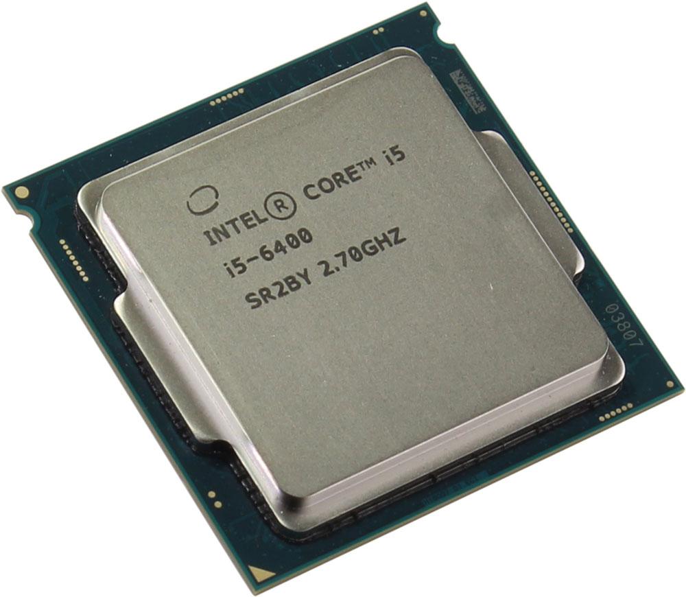 Intel Core i5-6400 процессор341847Core i5-6400 - процессор для настольных персональных компьютеров, основанных на платформе Intel. В основе лежит архитектура Skylake, что позволяет оптимизировать работу четырех ядер, функционирующих на частоте 2,7 ГГц (3,3 ГГц в режиме Turbo Boost). Дополнительное быстродействие обеспечивается кэш-памятью третьего уровня объемом 6 МБ. Обработка изображения перед демонстрацией его на мониторе ПК осуществляется графическим процессором Intel HD Graphics 530. Для двусторонней передачи данных между Intel Core i5-6400 и оперативной памятью компьютера предусмотрен встроенный контроллер, поддерживающий модули DDR4/DDR3L размером до 64 ГБ. Также в данной модели установлены контроллер PCI-E 3.0 и системная шина DMI 3.0, которые используются для связи с другими элементами ПК.
