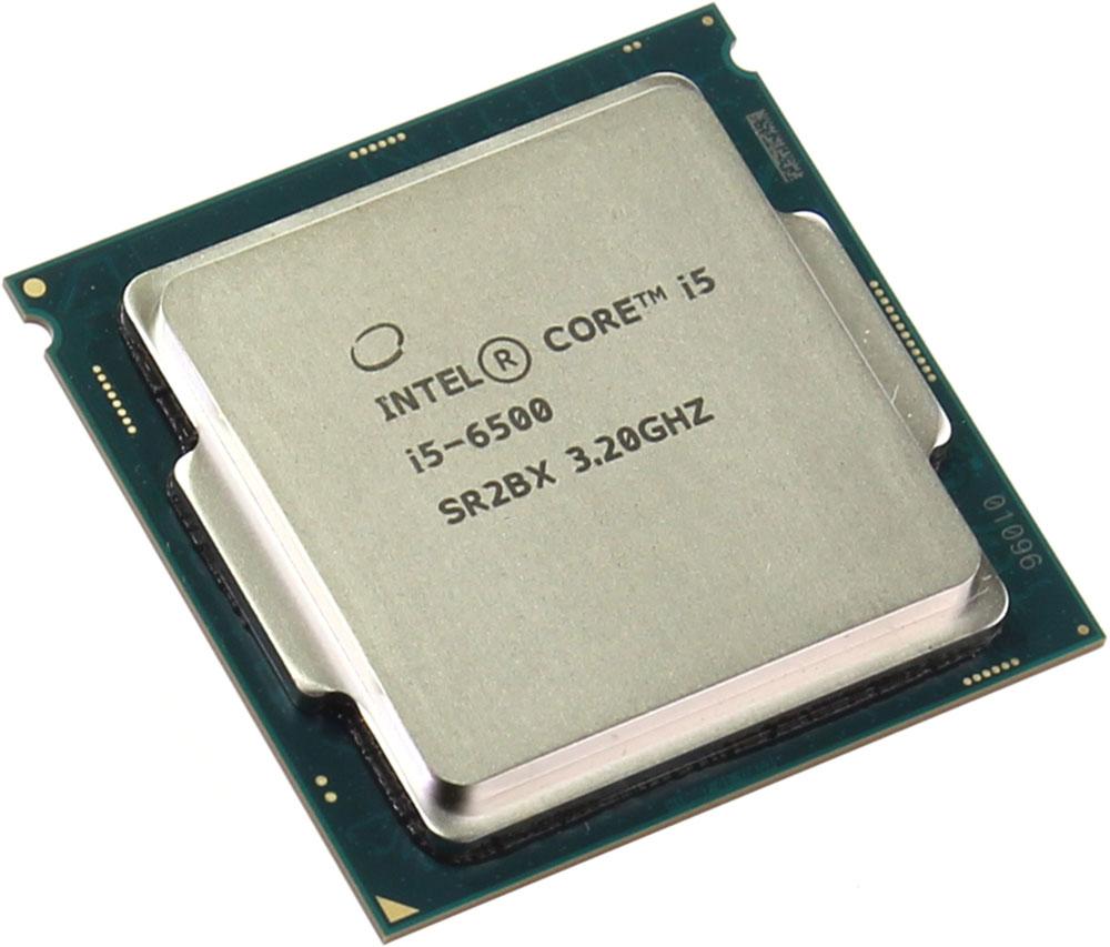 Intel Core i5-6500 процессор373462Core i5-6500 - процессор для настольных персональных компьютеров, основанных на платформе Intel. В основе лежит архитектура Skylake, что позволяет оптимизировать работу четырех ядер, функционирующих на частоте 3,2 ГГц (3,6 ГГц в режиме Turbo Boost). Дополнительное быстродействие обеспечивается кэш-памятью третьего уровня объемом 6 МБ. Обработка изображения перед демонстрацией его на мониторе ПК осуществляется графическим процессором Intel HD Graphics 530. Для двусторонней передачи данных между Intel Core i5-6500 и оперативной памятью компьютера предусмотрен встроенный контроллер, поддерживающий модули DDR4/DDR3L размером до 64 ГБ. Также в данной модели установлены контроллер PCI-E 3.0 и системная шина DMI 3.0, которые используются для связи с другими элементами ПК.