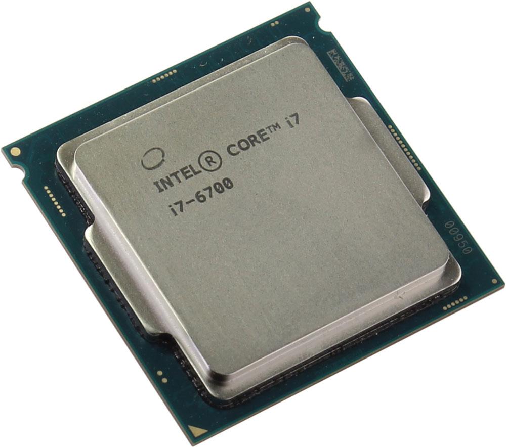 Intel Core i7-6700 процессор378628Core i7-6700 - процессор для настольных персональных компьютеров, основанных на платформе Intel. В основе лежит архитектура Skylake, что позволяет оптимизировать работу четырех ядер и восьми потоков, функционирующих на частоте 3,4 ГГц (4 ГГц в режиме Turbo Boost). Дополнительное быстродействие обеспечивается кэш-памятью третьего уровня объемом 8 МБ. Обработка изображения перед демонстрацией его на мониторе ПК осуществляется графическим процессором Intel HD Graphics 530. Для двусторонней передачи данных между Intel Core i7-6700 и оперативной памятью компьютера предусмотрен встроенный контроллер, поддерживающий модули DDR4/DDR3L размером до 64 ГБ. Также в данной модели установлены контроллер PCI-E 3.0 и системная шина DMI 3.0, которые используются для связи с другими элементами ПК.