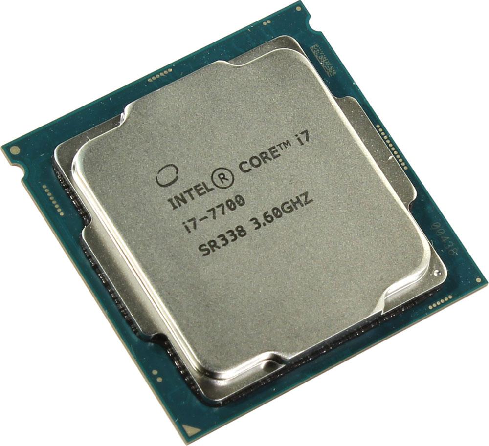Intel Core i7-7700 процессор396383Core i7-7700 - процессор для настольных персональных компьютеров, основанных на платформе Intel. Обеспечит высокую производительность системы, когда это необходимо. В основе лежит архитектура Kaby Lake, что позволяет оптимизировать работу четырех ядер, функционирующих на частоте 3,6 ГГц (4,2 ГГц в режиме Turbo Boost). Дополнительное быстродействие обеспечивается кэш-памятью третьего уровня объемом 8 МБ. Обработка изображения перед демонстрацией его на мониторе ПК осуществляется графическим процессором Intel HD Graphics 630. Одна из ключевых особенностей Kaby Lake кроется в поддержке HEVC кодирования и декодирования 4К видео. Процессоры 7-го поколения Intel, теперь перепоручают данную работу непосредственно графической карте, и не задействуют, как это было раньше, свои собственные ядра, тем самым качество потока 4К видео улучшается. Пользователь заметит и значительные улучшения в работе с 3D графикой при использовании Kaby Lake, в ...
