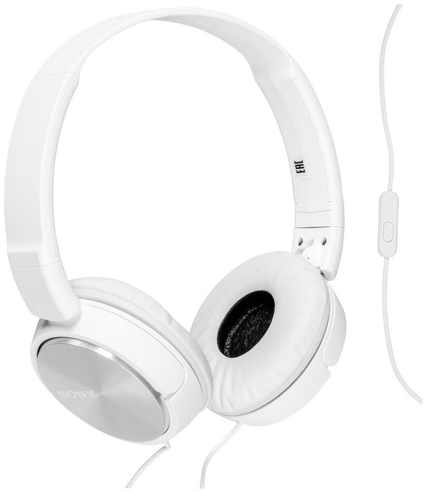 Sony MDR-ZX310, White наушникиMDR-ZX310 White30-мм мембраны полностью передадут мощь динамического звука. Можно использовать с плеером Walkman® и другими MP3-плеерами. Прочный и легкий плоский двусторонний Y-образный шнур длиной 1,2 м, который не будет путаться с другими проводами