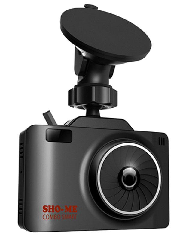 Sho-Me Combo Smart, Black видеорегистратор с радар-детекторомCOMBO SMARTВидеорегистратор с радар-детектором Sho-Me Combo Smart - уникальная комбинация самых важных для автомобилиста функций – запись происходящего на видео в высоком качестве (Full HD) и оповещение о сигналах полицейских радаров, принятых антенной и/или определяемых с помощью GPS. Определение радарных сигналов во всех актуальных диапазонах – Х, К, Ка и сигналов лазерных измерителей (включая ЛИСД и Амата), а также сигналов комплекса Стрелка (более 1 км), Робот, Места и прочих Определение силы сигнала (1-5), в том числе сила сигнала Стрелки Режимы Город/Трасса для уменьшения ложных срабатываний Скоростные фильтры (отключение оповещения о принимаемых сигналах при движении ниже выбранной скорости) Автоматическое приглушение громкости Регулировка яркости дисплея Возможность отключения диапазонов пользователем Сохранение настроек Голосовое оповещение Обновление базы данных камер и радаров, а также программного обеспечения с...