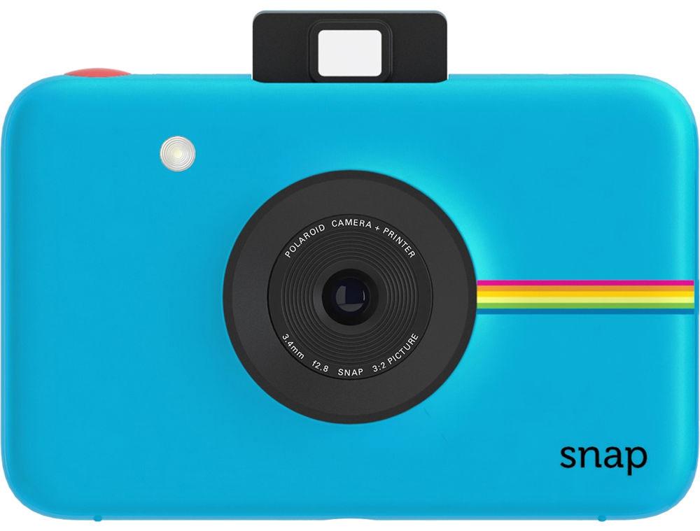 Polaroid Snap, Blue фотокамера мгновенной печати POLSP01BLE