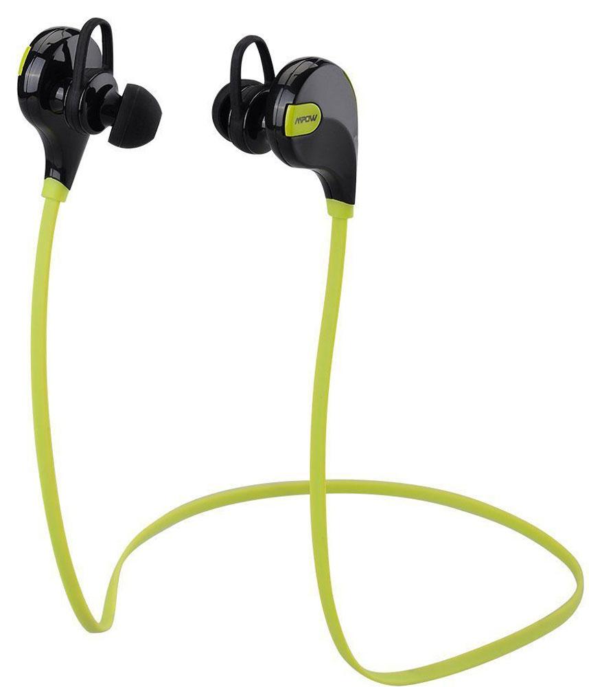 Mpow Swift, Yellow беспроводные наушникиMBH5Благодаря встроенному Bluetooth 4.0 и технологии apt-X, беспроводные спортивные наушники Mpow Swift обеспечивают воспроизведение стерео музыки высокой четкости. Наушники Mpow Swift обеспечивают также воспроизведение четкой речи, благодаря встроенной технологии шумоподавления. Вы можете наслаждаться бесперебойной беспроводной музыкой в диапазоне 10 метров. Универсальные наушники Mpow Swift совместимы с большинством телефонов с поддержкой Bluetooth. Конструкция наушников устойчива к поту и интенсивным движениям во время тренировки, что гарантирует надежную фиксацию и комфортное использование при физических нагрузках. Мощная встроенная батарея позволяет использовать наушники до 5 часов в режиме разговора/воспроизведения музыки и 185 часов в режиме ожидания. В наушниках Mpow Swift используется технология Bluetooth 4.0 с алгоритмом сжатия apt-X. Наушники оснащены технологией усиления сигнала, которая предотвращает перебои и...