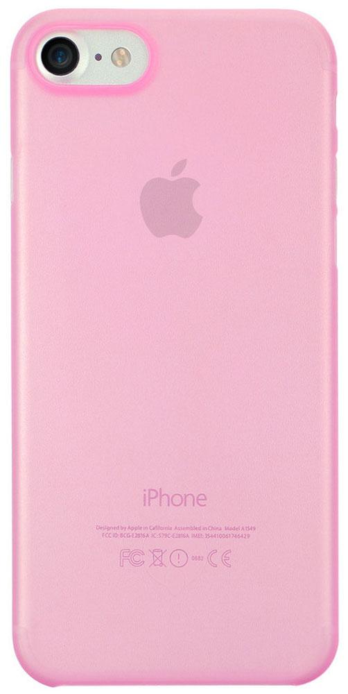 Ozaki O!coat 0.3 Jelly чехол для iPhone 7, PinkOC735PKЧехол Ozaki O!coat 0.3 Jelly для Apple iPhone 7 предназначен для защиты корпуса смартфона от механических повреждений и царапин в процессе эксплуатации. Имеется свободный доступ ко всем разъемам и кнопкам устройства. Толщина чехла составляет 0,3 мм.