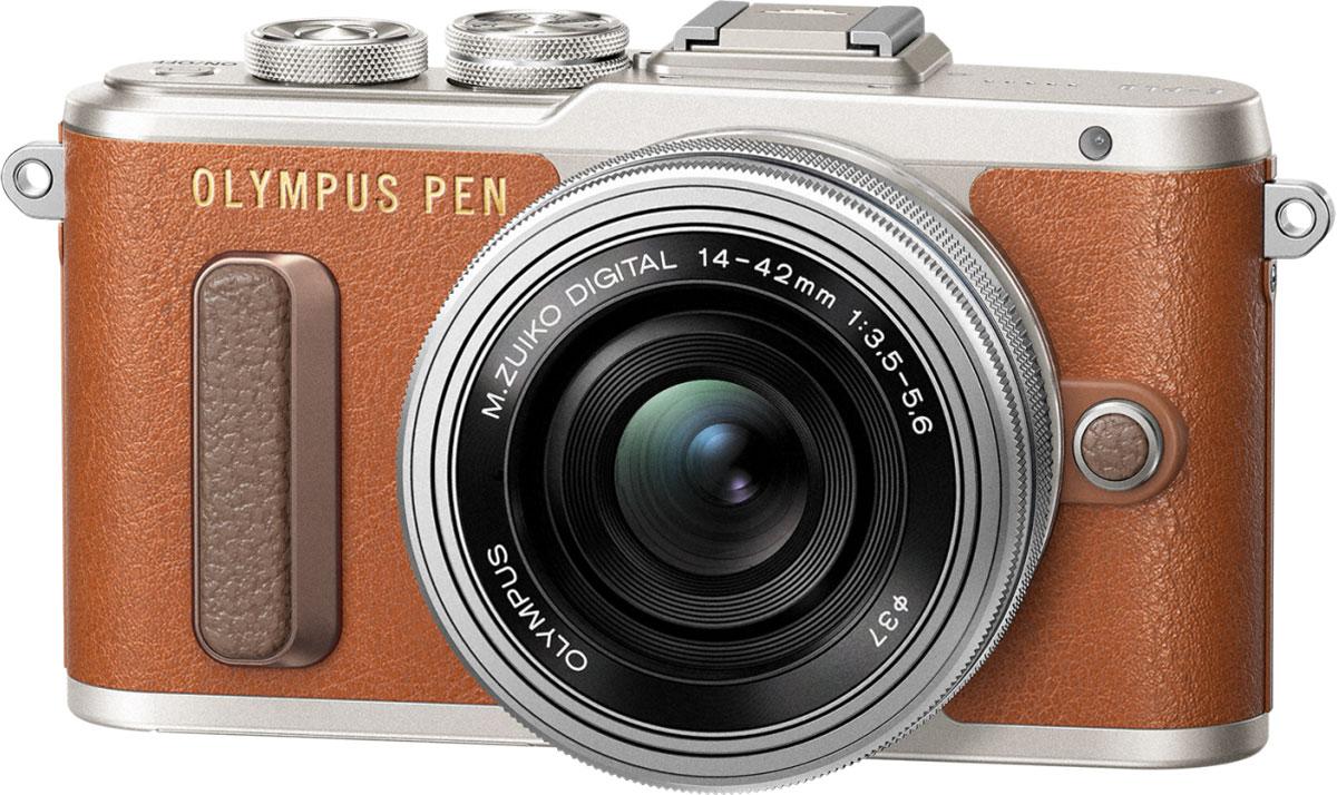 Olympus PEN E-PL8 Kit 14-42 EZ, Brown фотокамераV205082NE000Фотокамера Olympus PEN E-PL8 станет вашей персональной музой! Стильный корпус в темно-коричневом цвете и других классических оттенках выделит эту камеру среди самых ожидаемых новинок этого года. Современный дизайн, удобный функционал, классические изгибы и кожаная отделка металлического корпуса делает камеру такой же яркой и привлекательной, как и вы. Мы все любим селфи! Но все, кто когда-либо пытался сделать хороший снимок, знают, что селфи само по себе уже стало искусством, и нужно уметь все сделать правильно. С новой камерой Olympus ваши селфи будут выглядеть идеально с первого кадра. Поверните сенсорный экран вниз, и камера автоматически перейдет в режим селфи. С камерой Olympus PEN E-PL8 вы можете делиться захватывающими моментами своей жизни, разнообразные художественные фильтры расширят ваш творческий потенциал и вдохнут в ваши изображения особенное настроение. Эффекты художественных фильтров в режиме Live View позволят вам увидеть готовый результат...