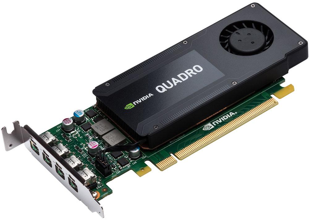 PNY NVIDIA Quadro K1200 4GB видеокартаRVCQK1200DVI-PBВидеокарта PNY NVIDIA Quadro K1200 обеспечивает невероятную производительность 3D приложений и возможность выводить изображение одновременно на четыре 4K дисплея. Данная модель включает в себя установочный кронштейн высокого профиля, позволяющий устанавливать её в любую рабочую станцию. С помощью прилагаемого низкопрофильного кронштейна она так же может быть использована в мобильных и компактных рабочих станциях. Технология NVIDIA Power Management снижает суммарные затраты на потребляемую системой электроэнергию. Она использует интеллектуальный подход при адаптации суммарного потребления видеосистемы в зависимости от приложений, выполняемых конечным потребителем. Оптимизированная система потребления электроэнергии помогает снизить суммарную стоимость владения всей системы и повысить ее надежность. 4 ГБ памяти GDDR5 с высокой пропускной способностью позволяет создавать большие и сложные 3D модели.