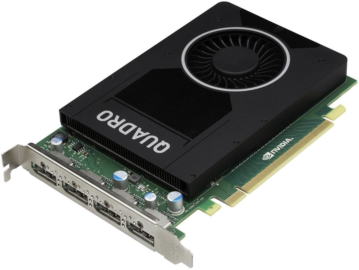 PNY NVIDIA Quadro M2000 4GB видеокартаVCQM2000-PBВидеокарта PNY NVIDIA Quadro M2000 обеспечивает невероятные творческие возможности в профессиональных приложениях для работы с 3D графикой. Видеочип, основанный на новой архитектуре NVIDIA Maxwell, имеет объем видеопамяти 4 ГБ и поддерживает воспроизведение на четырех дисплеях с разрешением 4K. Данная модель - отличный выбор чтобы ускорить разработку продуктов и создание контента, требующего работы со сложными моделями и схемами. Профессионалы могут с успехом использовать повышенную производительность, а также аппаратные HEVC/H.265 кодирование и декодирование, для ускорения работы с контентом. PNY Technologies поставляет профессиональные графические карты со всеми необходимыми принадлежностями, включая соответствующие адаптеры, кабели, кронштейны, установочный диск и документацию для обеспечения быстрой и успешной установки.