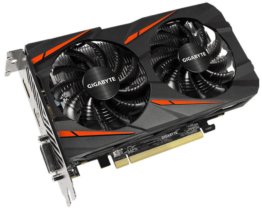 Gigabyte Radeon RX 550 Gaming OC 2GB видеокартаGV-RX550GAMING OC-2GDВидеокарта Gigabyte Radeon RX 550 Gaming OC создана, чтобы удовлетворить все требования опытных игроков. Основано на решении AMD Radeon, архитектура GPU Polaris. Система охлаждения WINDFORCE 2X оснащена двумя вентиляторами 90 мм с уникальным дизайном лопастей. Это позволяет получить эффективный уровень теплорассеивания для высокопроизводительной системы с низкой температурой. Используется полу-пассивный режим работы, вентиляторы останавливают свою работу,если температура чипа не высокая, или нет достаточной нагрузки. Металлическая задняя пластина усиливает конструкцию видеокарты, защищает элементную базу от внешнего механического воздействия и повреждений. При производстве карты используются дроссели и конденсаторы высокого качества, благодаря этому факту графическая карта обеспечивает выдающуюся производительность и долговечность системы.