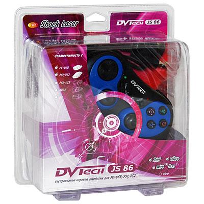 Джойстик PC/PS2 DVTech JS86 Shock Laser беспроводной