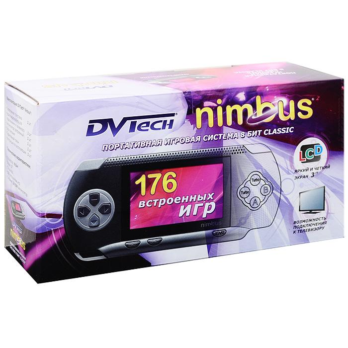 Портативная игровая система DVTech Nimbus 8 бит Classic, черно-серебряная. 176 встроенных игр