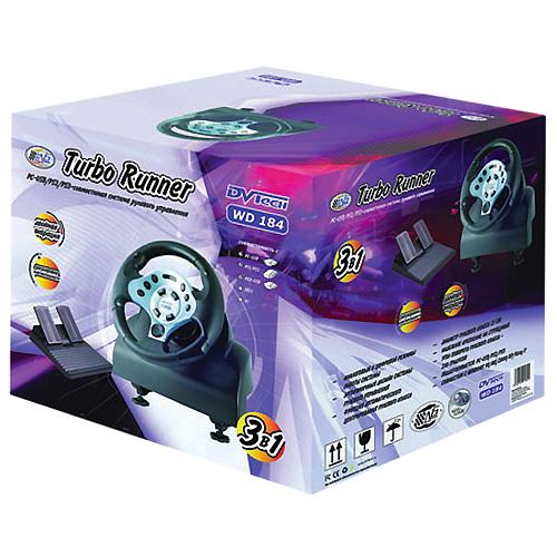 Руль Turbo Runner для PC / PlayStation 2 / PlayStation 3