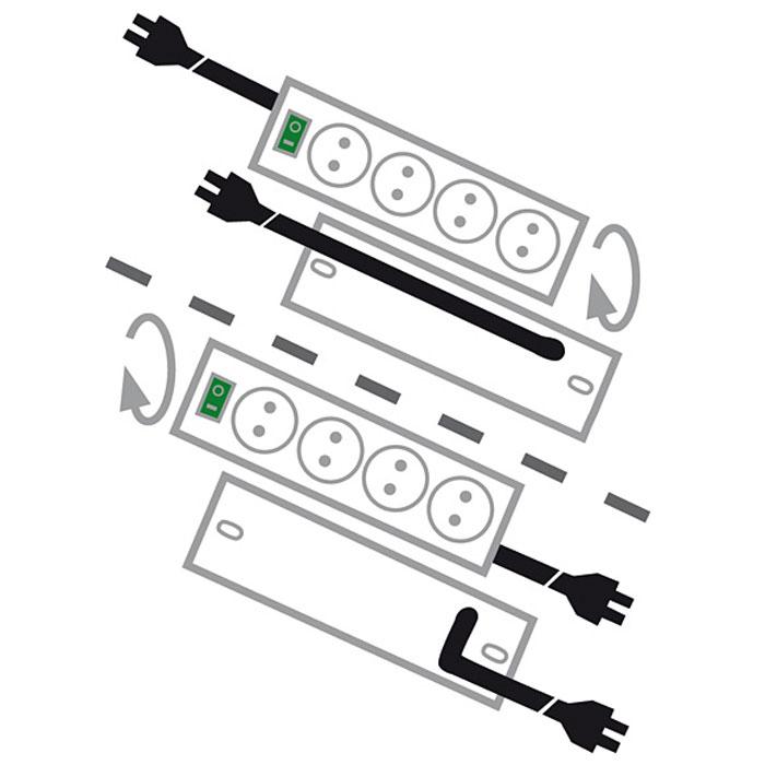 Brennenstuhl Primera-Tec Comfort Switch Plus сетевой фильтр, White