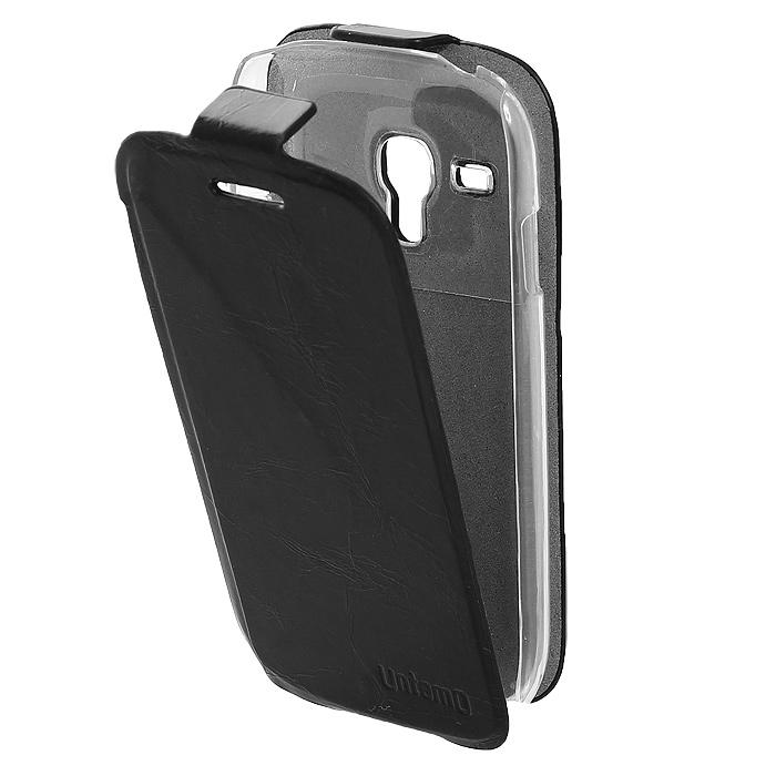 Untamo Timber чехол-флип для Samsung Galaxy S III mini, Black (UTIMFS3MINIBL)