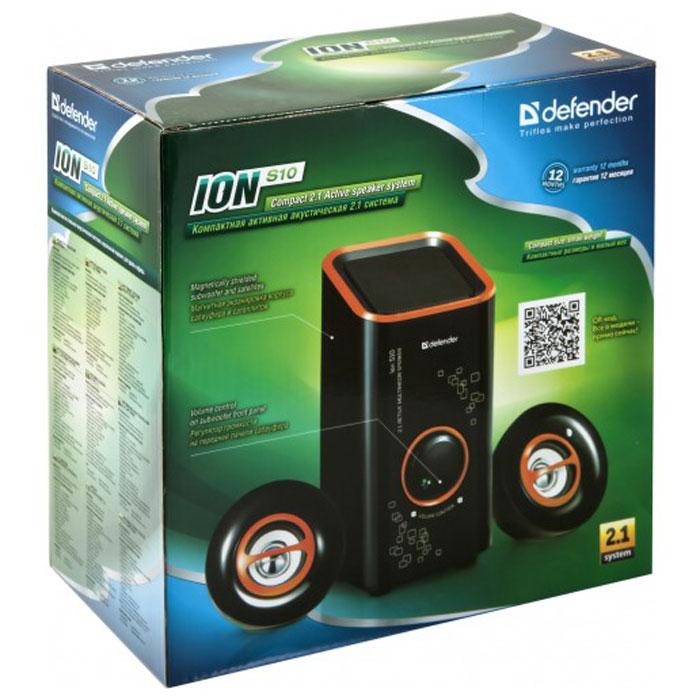 Defender ION S10, Black акустическая система 2.1