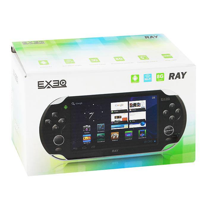 Портативная игровая консоль EXEQ Ray (черная)