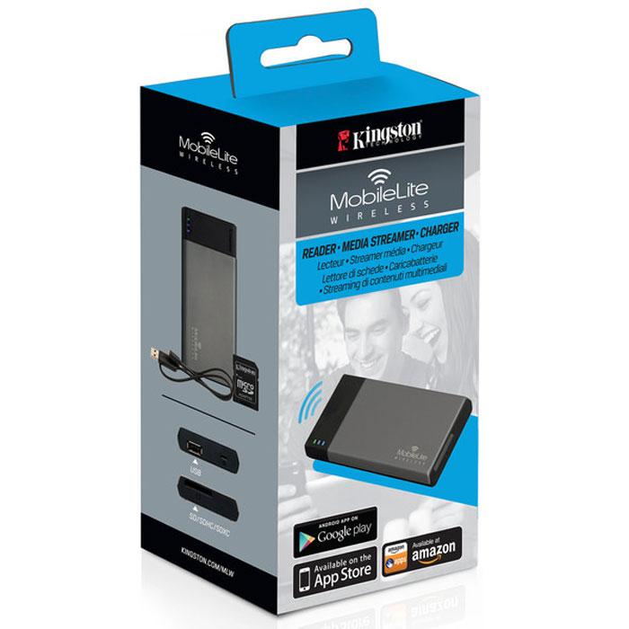 Kingston MobileLite Wireless картридер со встроенным аккумулятором (1800 mAh) и модулем WiFi
