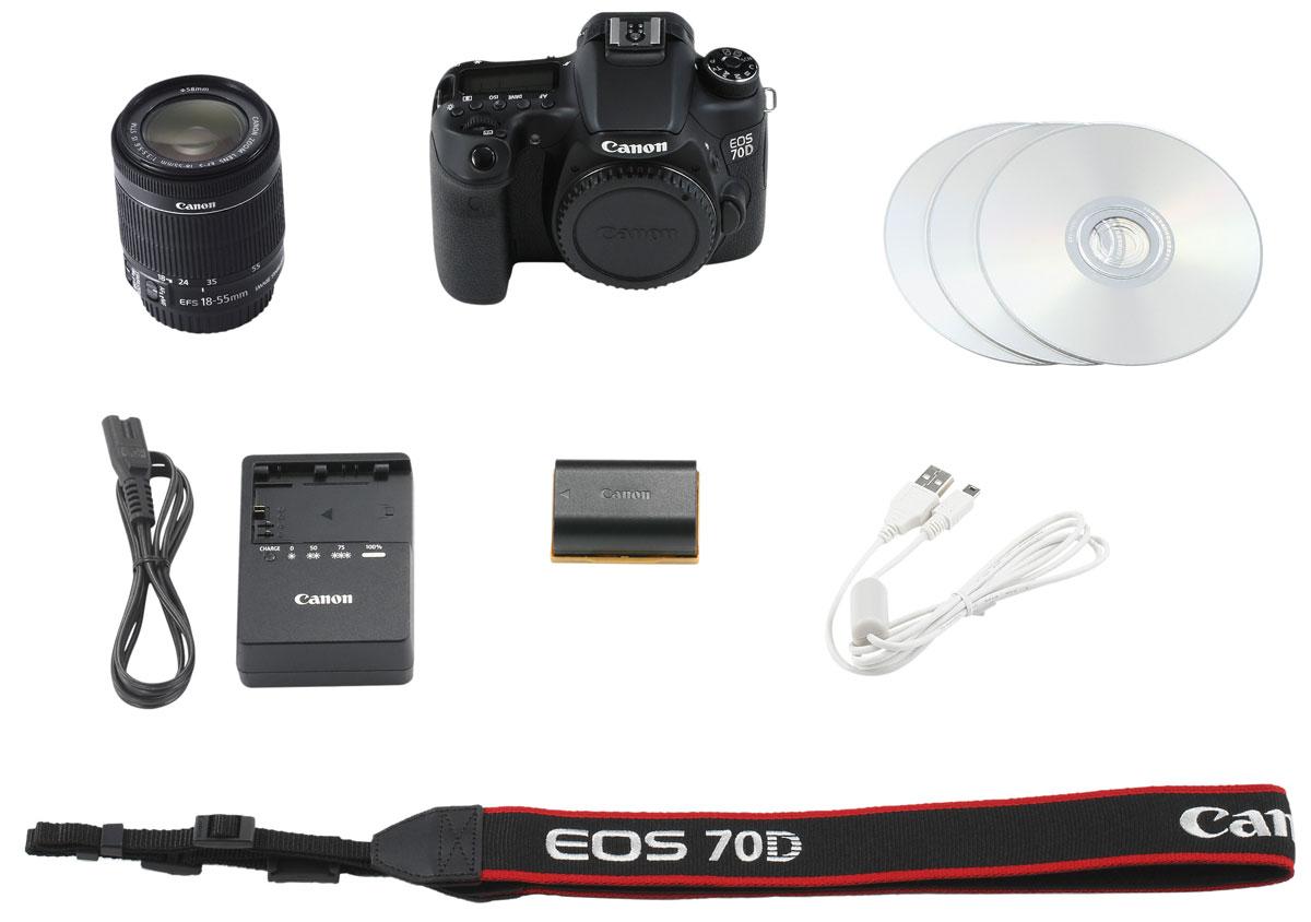 Canon EOS 70D Kit 18-55 IS STM цифровая зеркальная фотокамера