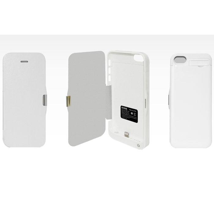 EXEQ HelpinG-iF03 чехол-аккумулятор для iPhone 5/5s/5c, White (2300 мАч, флип-кейс) ( HelpinG-iF03 WH )