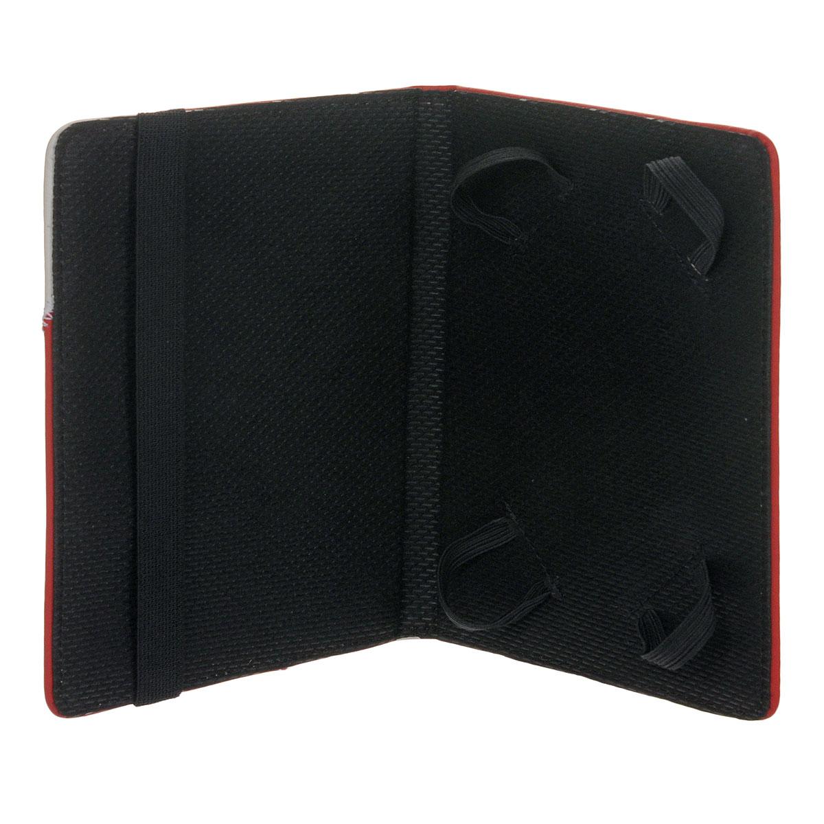 Vivacase Fantasy кожаный чехол-обложка для PocketBook 613/611/622, Red White