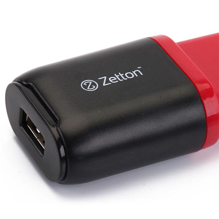 Zetton Life Style 1А сетевое зарядное устройство, Black Red (ZTLSTC1A)