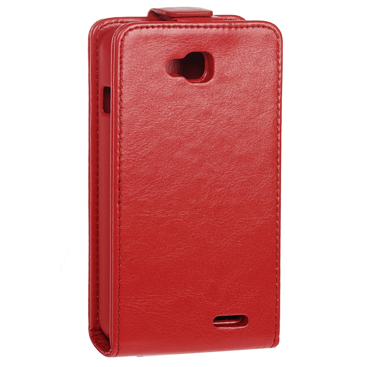 Skinbox Flip Case чехол для LG L90 Dual, Red