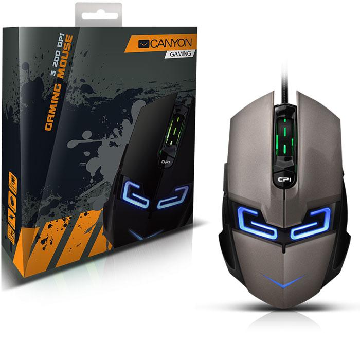 Canyon CND-SGM7, Silver Gray игровая мышь ( CND-SGM7G )
