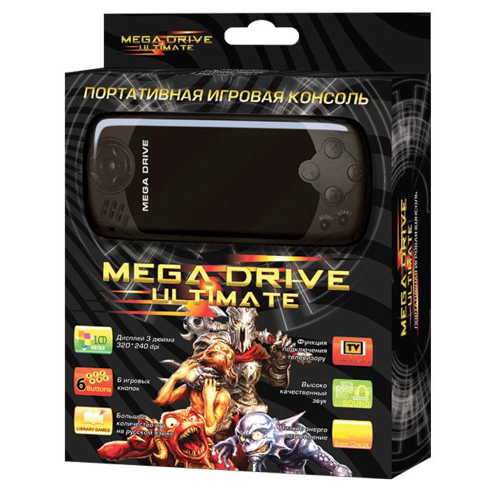 Портативная игровая приставка MegaDrive Ultimate (черная) ( VG-1628 )