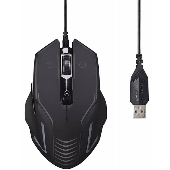 Oklick 735G Interceptor, Black Blue игровая мышь ( MW-1303 )