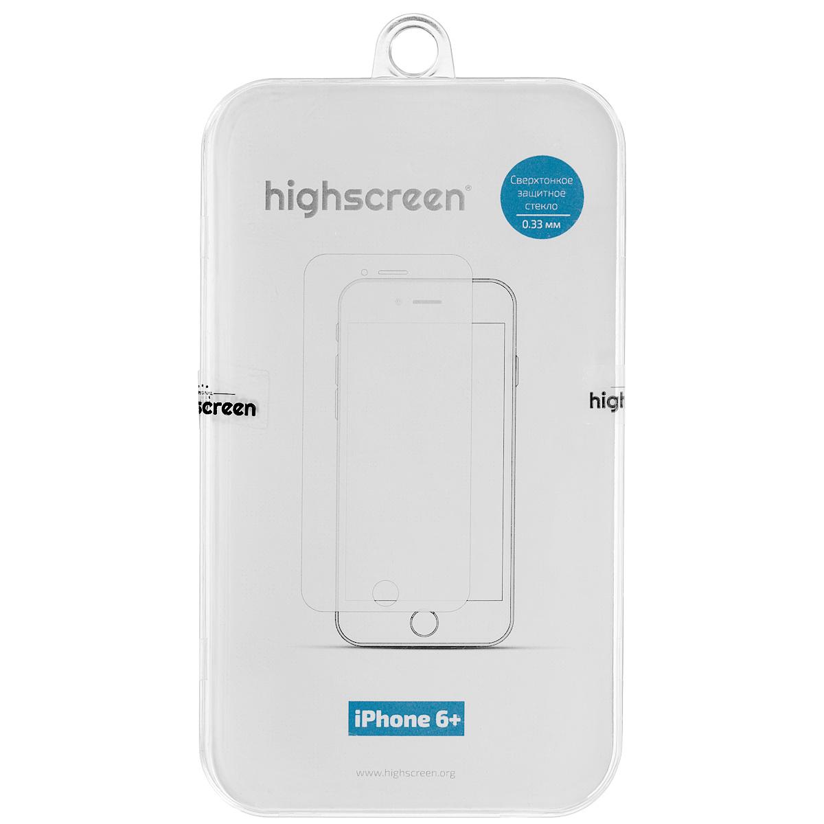 Highscreen защитное стекло для iPhone 6 Plus, прозрачное