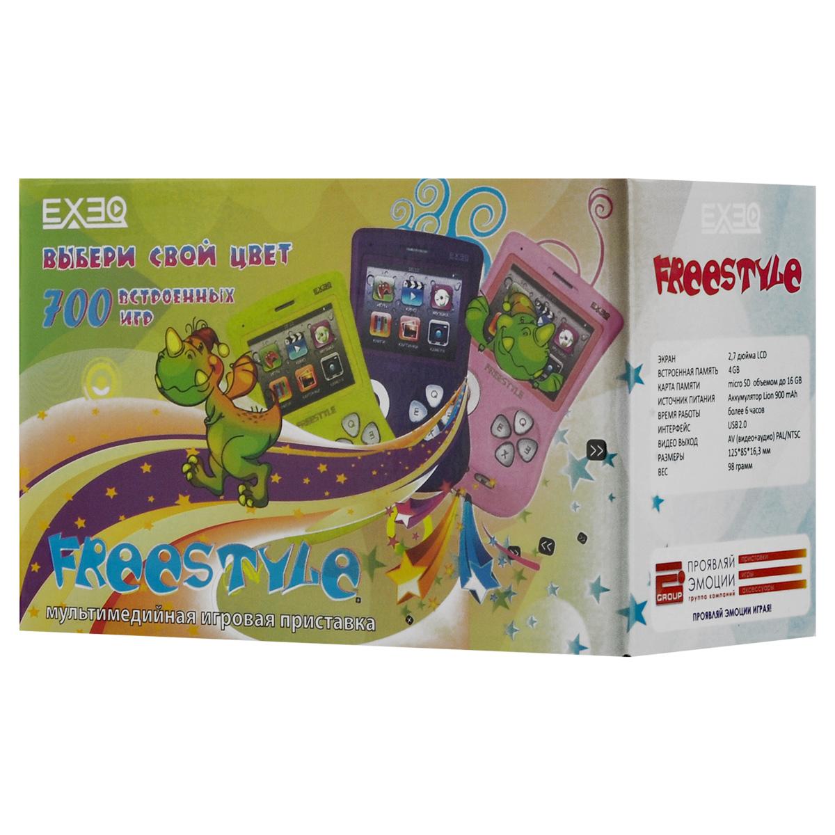"""Игровая консоль EXEQ FreeStyle 2,7"""" (белая) ( MP-1002_белый )"""