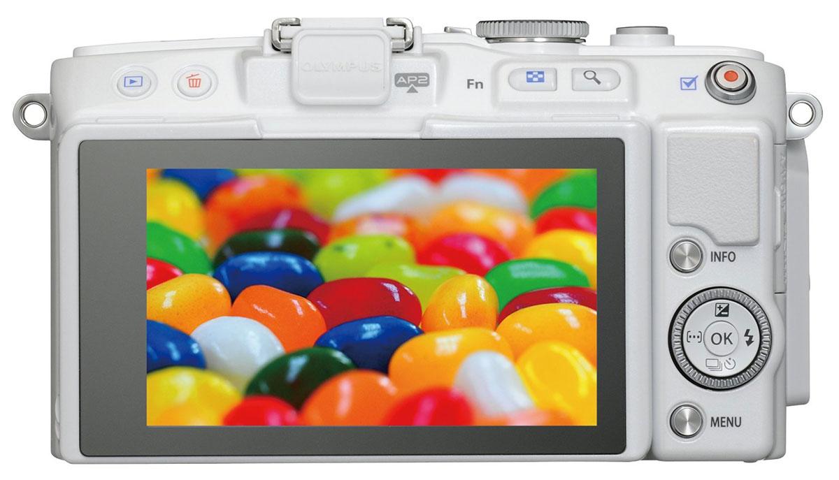 Olympus E-PL6 Kit EZ-M1442 II R, White цифровая фотокамера