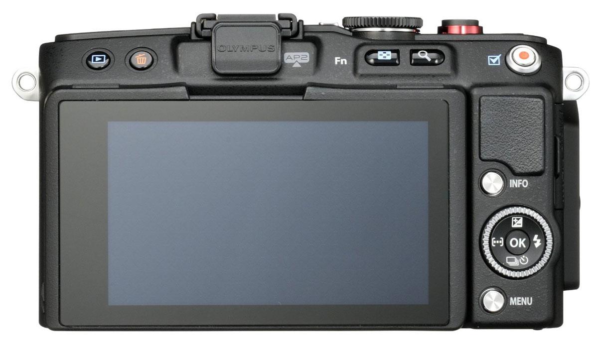 Olympus E-PL6 Kit EZ-M1442 II R, Black цифровая фотокамера