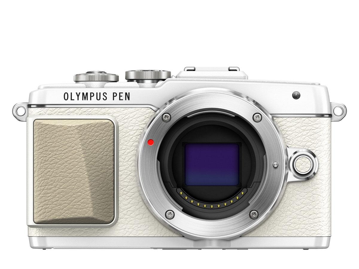 Olympus E-PL7 Kit EZ-M1442 II R, White цифровая фотокамера