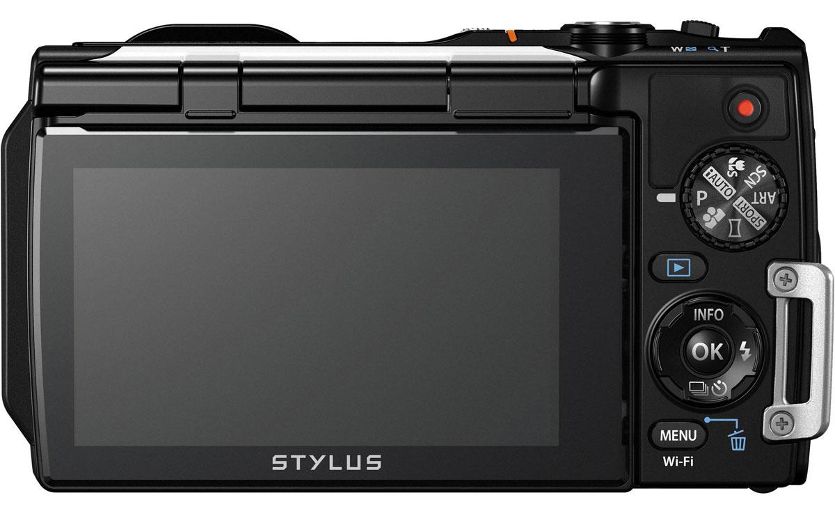 Olympus TG-860, White цифровая фотокамера