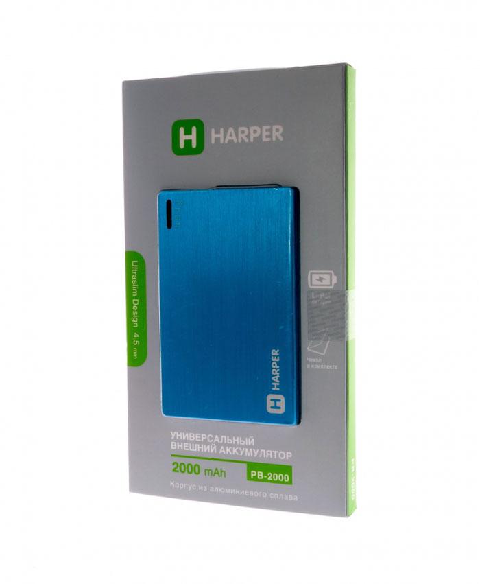 Harper PB-2000, Blue внешний аккумулятор