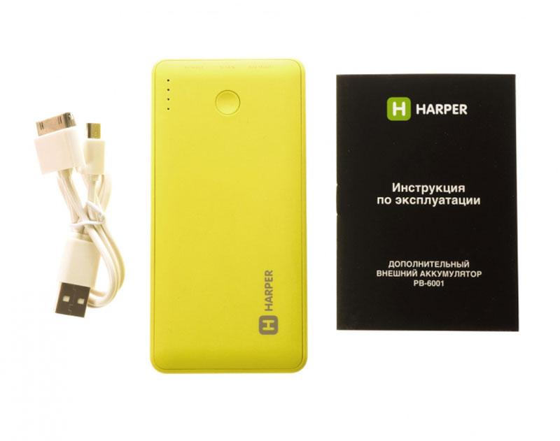 Harper PB-6001, Lime внешний аккумулятор ( PB-6001 lime )