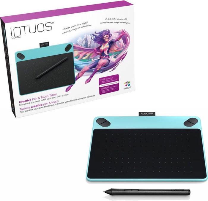 Wacom Intuos Comic PT S, Blue графический планшет (CTH-490CB-N)