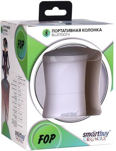SmartBuy Fop SBS-3310, White портативная Bluetooth-колонка